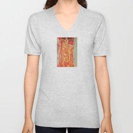 Gustav Klimt - Greek Goddess of Medicine Hygeia Unisex V-Neck