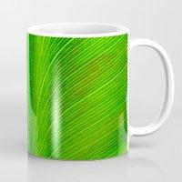 banana leaf Mugs featuring Banana Leaf by moo2me
