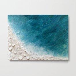 Wave Whispers (Large Encaustic) Metal Print