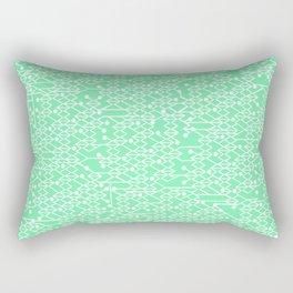 Microchip Pattern (Mint) Rectangular Pillow