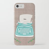 typewriter iPhone & iPod Cases featuring typewriter by WreckThisGirl