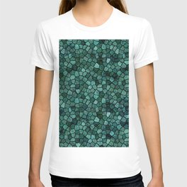 Oceanic Mosaic Crust Texture Abstract Pattern T-shirt