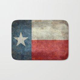 Texas state flag, Vertical retro vintage Bath Mat