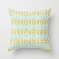 ikat Throw Pillows featuring IKAT by Sarah Saeed