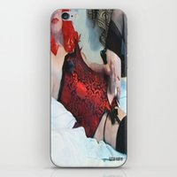 penis iPhone & iPod Skins featuring funny painting Transgender trannie BDSM fetish panty corset sex fuck penis cock dick woman man cute by Velveteen Rodent