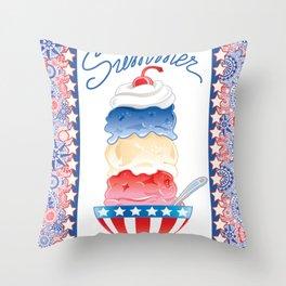 Summer Sundae Throw Pillow