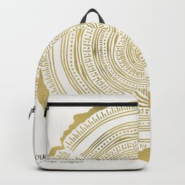 Douglas Fir – Gold Tree Rings Backpack