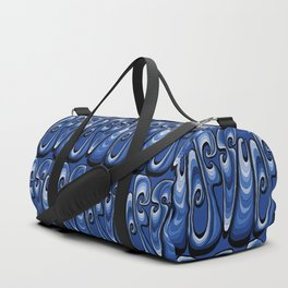 Surf Typography - Deep Blue Duffle Bag