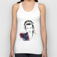 harry styles Tank Tops featuring Harry Styles by Mariam Tronchoni