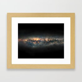 Milky Way Panoramic Framed Art Print