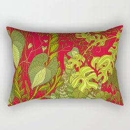 Plant Life in Pink Rectangular Pillow