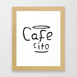 Cafecito Black and White Framed Art Print