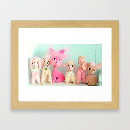 pink poodle club Framed Art Print