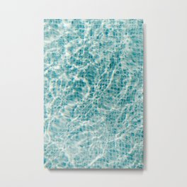 Blue swimming pool - Holiday feelings   Fine art trafel photography   Art prints Metal Print