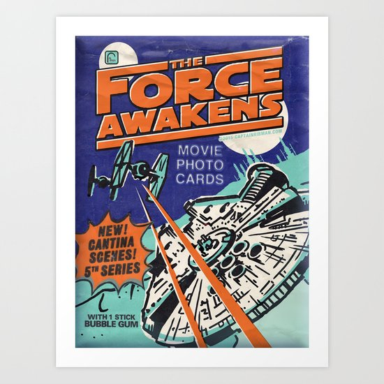 Twin Sun Battle - WaxPack Series 5 Art Print