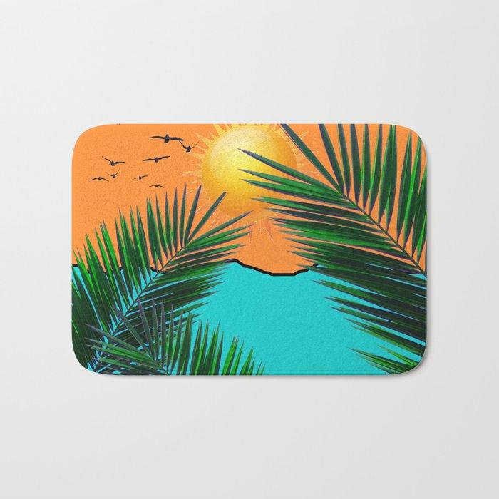 Palm in the sun Bath Mat