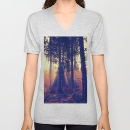 one morning in the middle of the forest Unisex V-Neck