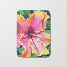 Tropical Bliss Hibiscus Bath Mat