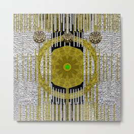 Gold and silver is the way to heavenly feelings Metal Print