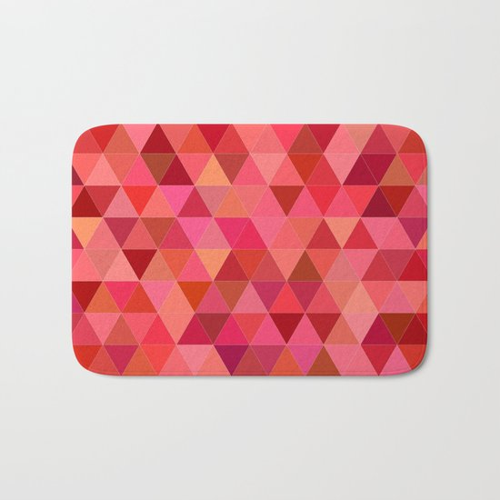 Red triangle tiles Bath Mat