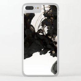 Black ink in water Clear iPhone Case