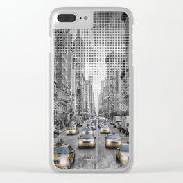 Graphic Art NEW YORK CITY 5th Avenue Traffic Clear iPhone Case