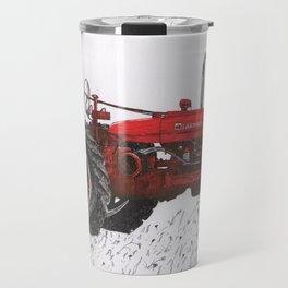 Farmall Super M, International Harvester Tractor Drawing Travel Mug