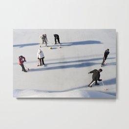 Curling Metal Print
