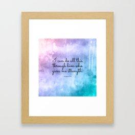 Philippians 4:13, Inspiring Bible Verse Framed Art Print