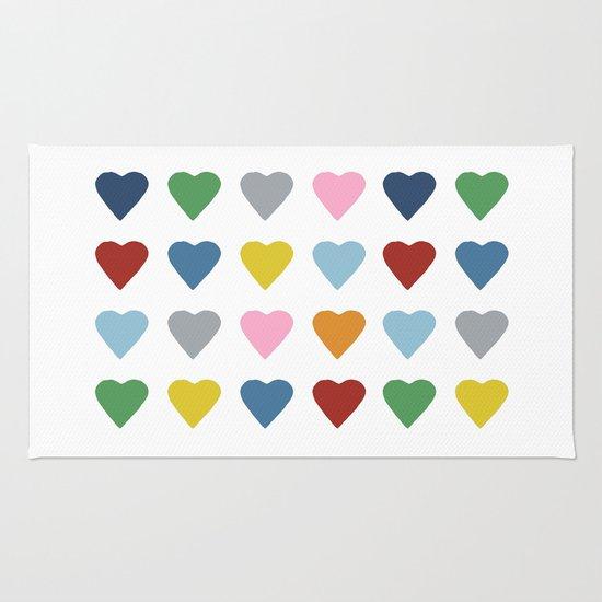 16 Hearts Rug