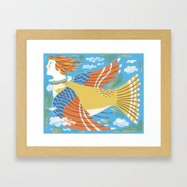 Bird Woman Framed Art Print