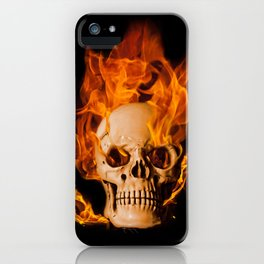 Another Burning Skull iPhone Case