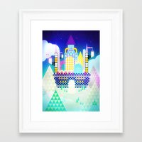 castle in the sky Framed Art Prints featuring Castle in the Sky by Alexander Pohl