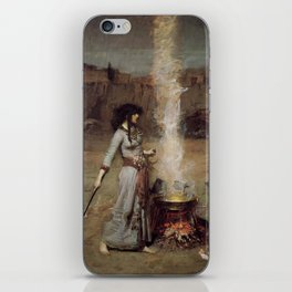 The Magic Circle, John William Waterhouse iPhone Skin