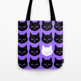 Cats Purple Tote Bag