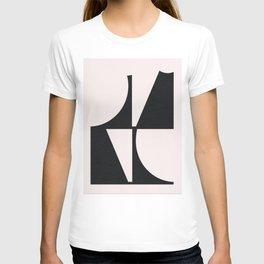 Curve Line Minimal Poster T-shirt