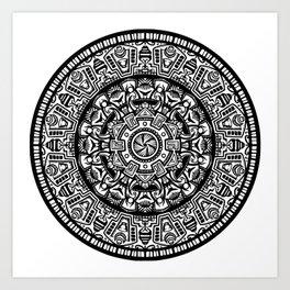 Egyptian Inspired Mandala Art Print