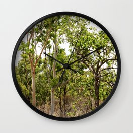 Beautiful forest regrowth Wall Clock
