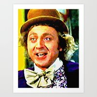 willy wonka Art Prints featuring Willy Wonka by Paul Van Scott