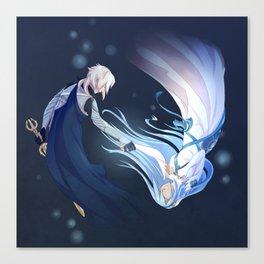 Fire Emblem Fates Kamui & Aqua Canvas Print