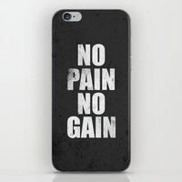fitness iPhone & iPod Skins featuring Lab No. 4 - Fitness Motivation Inspirational Gym Quotes Poster by Lab No. 4