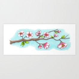 Almond Tree Art Print
