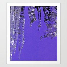 Purple icicles Art Print