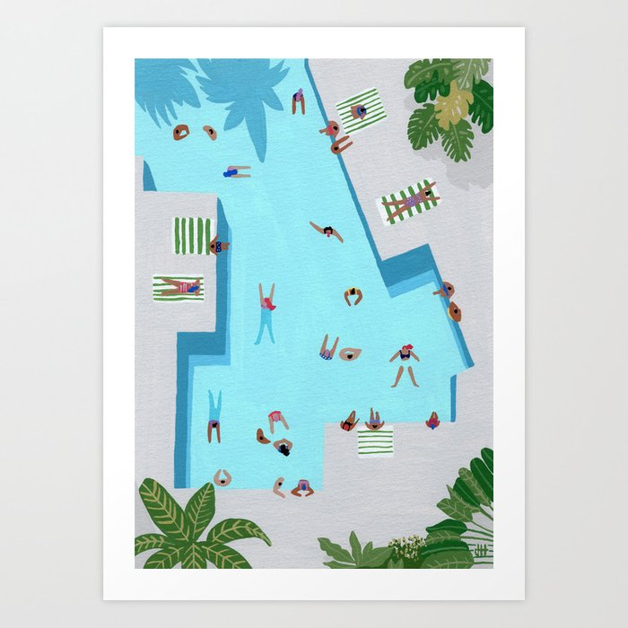 Crisp cut swim Art Print