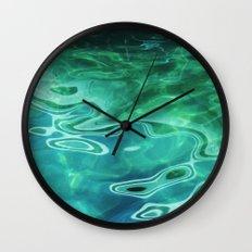 Water / H2O #67 (Water Abstract) Wall Clock