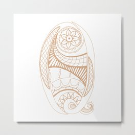Fancy Q Metal Print