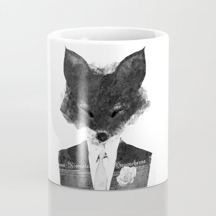 minima - dapper fox | noir Coffee Mug