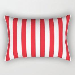 Vertical Red Stripes Rectangular Pillow