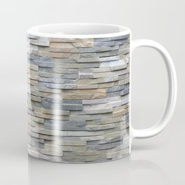 Gray Slate Stone Brick Texture Faux Wall Coffee Mug