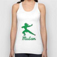 mulan Tank Tops featuring Mulan by husavendaczek